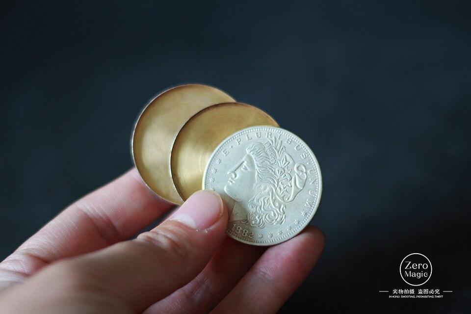 Triad Coins (Morgan Gimmick) By Joshua Jay Coin Magic Tricks Close Up Magic Props Gimmick Coins Vanishing Super Street