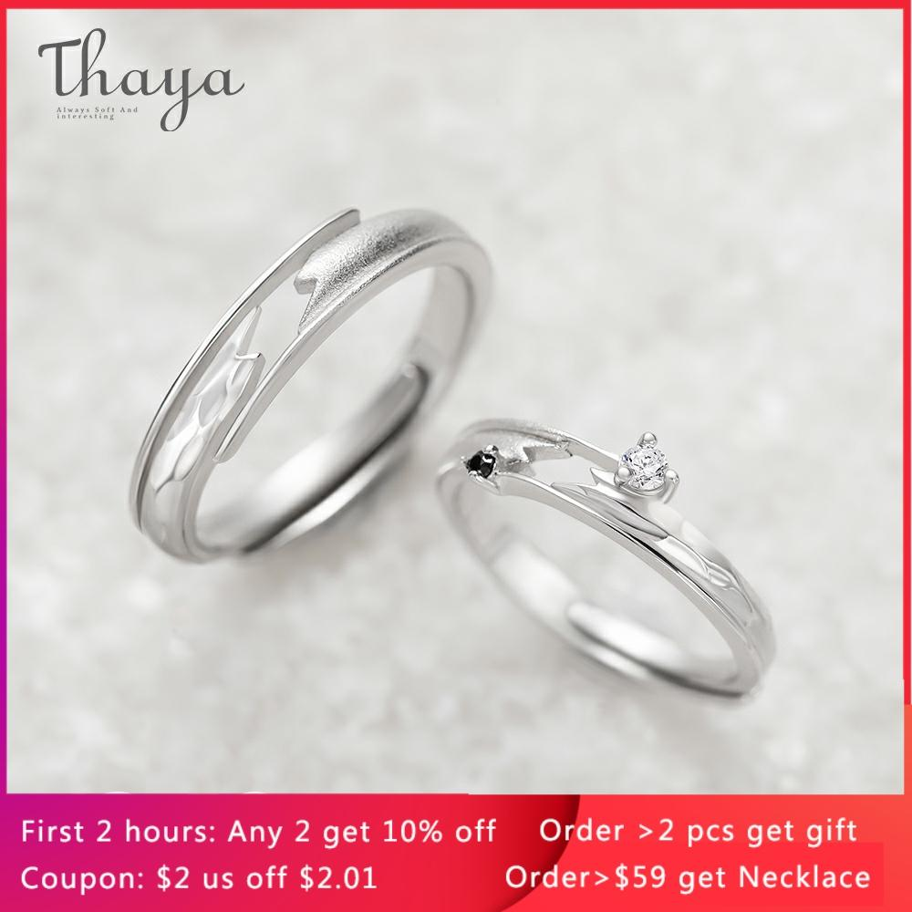 Thaya Meet By Chance Design Rings High Quality S925 Sterling Silver Jewelry Couple Ring For Wedding Engagement Gift