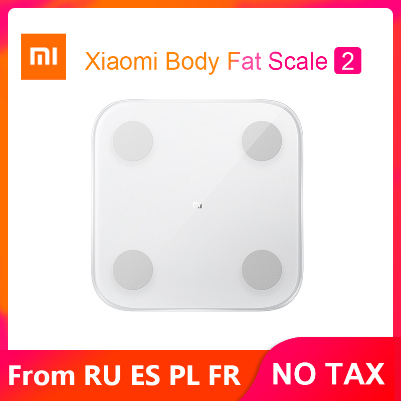 2019 Xiao mi mi Körper Zusammensetzung Skala 2 Smart Fett Waage Bad Digitale Elektronische Led bildschirm Balance APP Daten analyse-in Smarte Fernbedienung aus Verbraucherelektronik bei GTopbuy Store