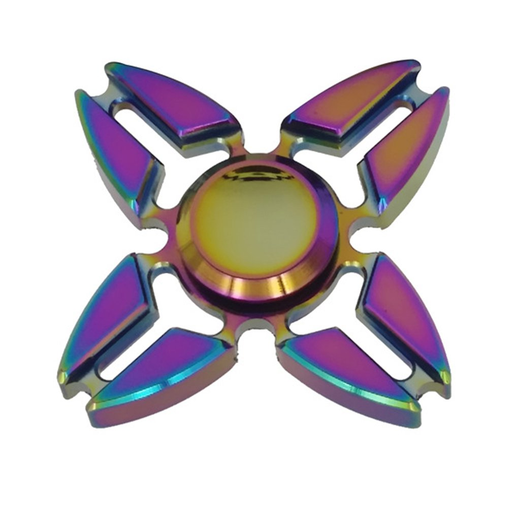 Colorful Hand Spinner Quad Corner Metal Spinners Portable Finger Toy For Autism Anti Stress Anxiety Focus Toys Kids Gift