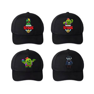 Black Hat Baseball-Cap Snapback Hip-Hop-Cap Stars-Game Braw Breathable Women Casual Cartoon