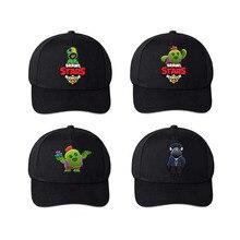 Black hat Braw stars Game baseball cap cartoon cotton men wo