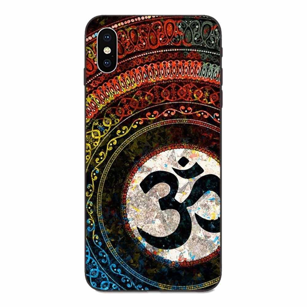 AUM Om Tập Yoga Trên Cùng Nhất Cho Apple iPhone 4 4S 5 5S SE 6 6S 7 8 Plus X XS Max XR TPU Cell Cover