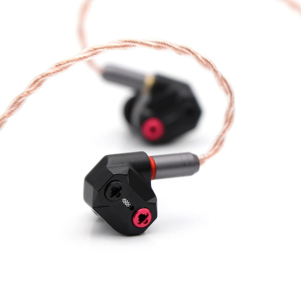 Shuoer Tape электростатический драйвер HiFi наушники вкладыши со съемным MMCX кабелем для аудиофилов - 2