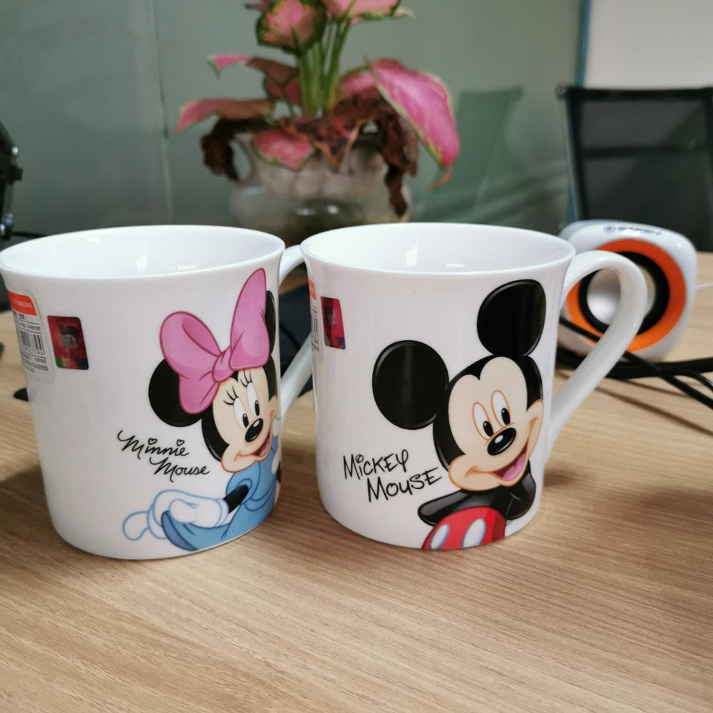 Disney Cartoon Ceramic Cup Office Home Gift Cup Creative Simple Minnie Mickey Ceramic Coffee Tea Cup