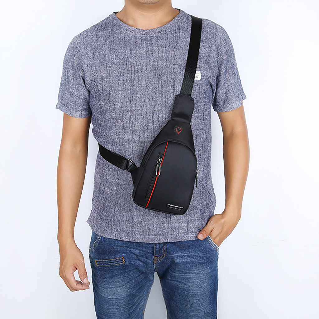 MAIOUMY Men's Fashion ChestBags Solid 5Colors Male Shoulder Bags OutdoorOxford Waterproof Ultra-Light Phone Bag Man CrossbodyBag