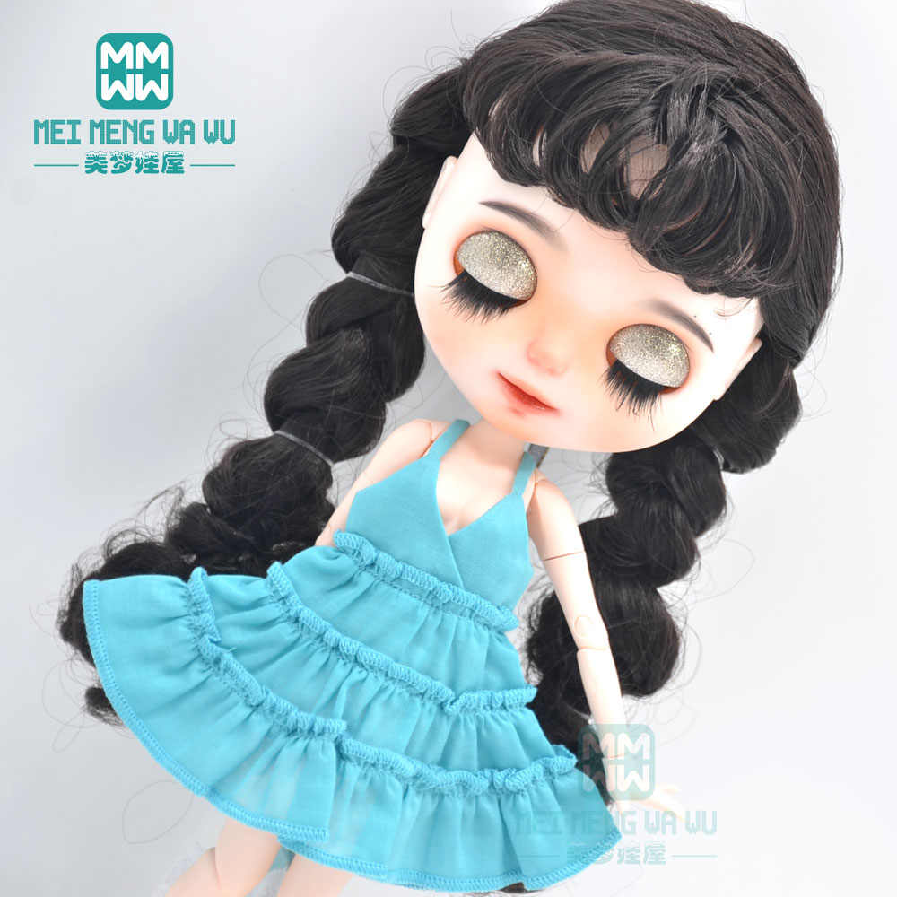1:6 Doll Fashion Shirt Skirt Ruffle Sleeve for Blythe Dolls Clothes Decor