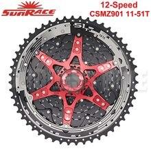 Sunrace novo csmz903 csmz901 roda livre 12 velocidade 11-51t mountain bike cassete mtb volante 12 s roda dentada compatível shimano sram