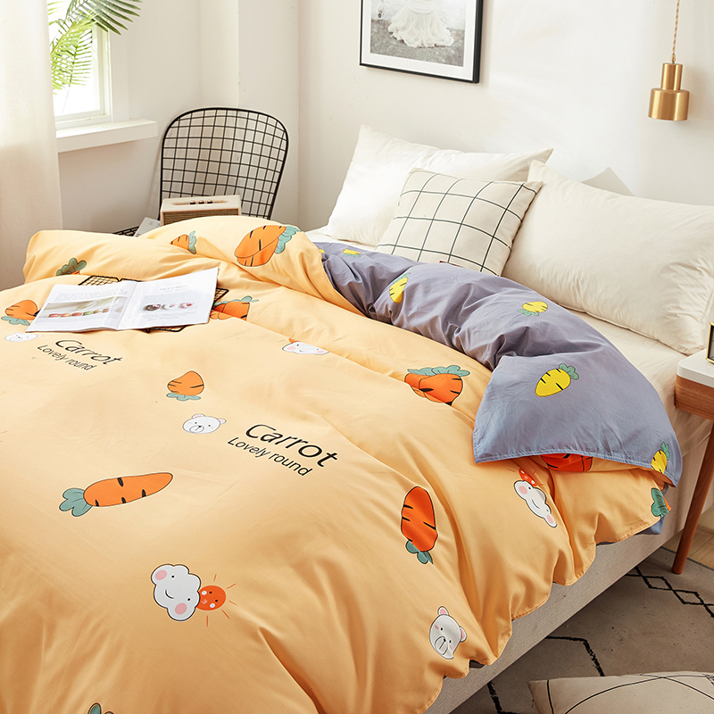 Carrot printing bedding set 3/4pcs bed linens Home Textile Duvet cover set classic bedclothes Modern sheet pillowcase king