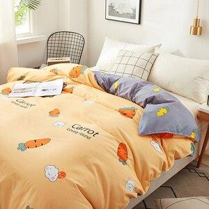 Carrot printing bedding set 3/