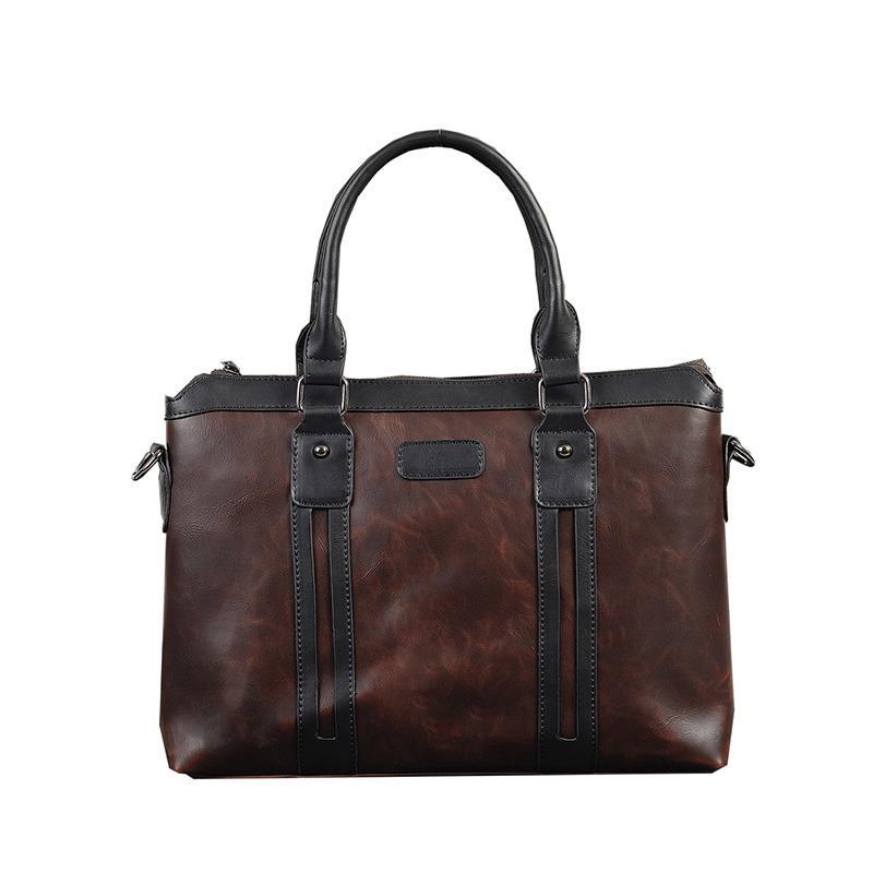 Fashion Men Designer Crazy PU Leather Crossbody Bags Mens Large Capacity Vintage Designer Handbags Autum New Style For 2019