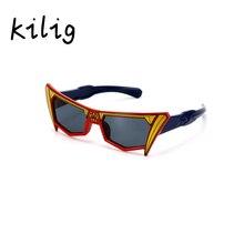 Kilig Transformer Cool Cartoon Silicone Kids Eyeglasses Frame Boys Cool Children