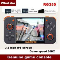 New ANBERNIC Retro Game RG350 Video Game Handheld game console MINI 64 Bit 3.5 inch IPS Screen 16G Game Player RG 350 PS1 RG350M