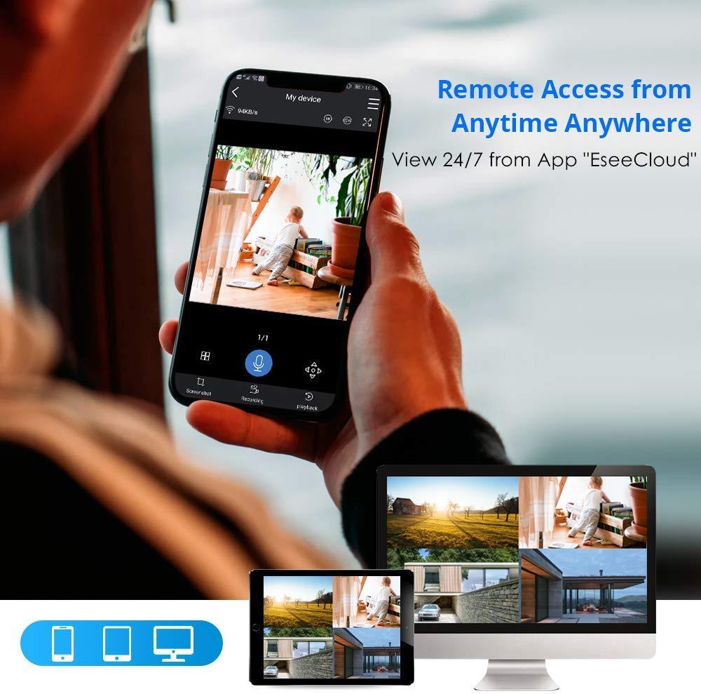 Hiseeu 8CH Wireless CCTV System 1080P