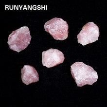 Мадагаскарский Натуральный Необработанный розовый кварцевый кристалл, приблизительный камень, кристалл любви и минералов, аквариумный ка...