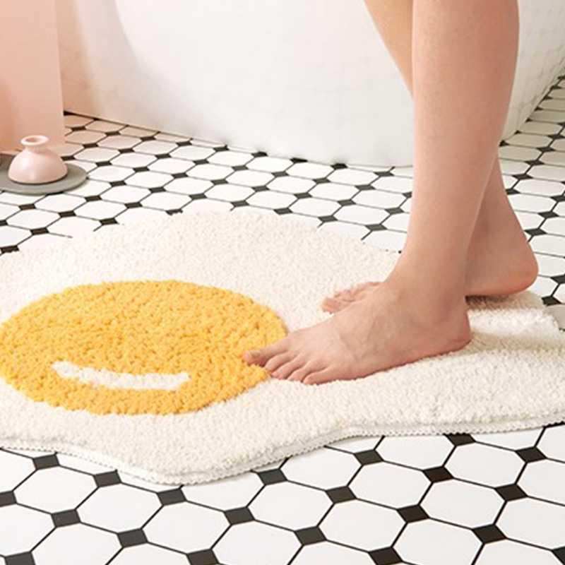 oeuf tapis salle de bain tapis d entree drole tapis de cuisine tapis chambre tapis de sol nordique bienvenue paillasson chic chambre decor