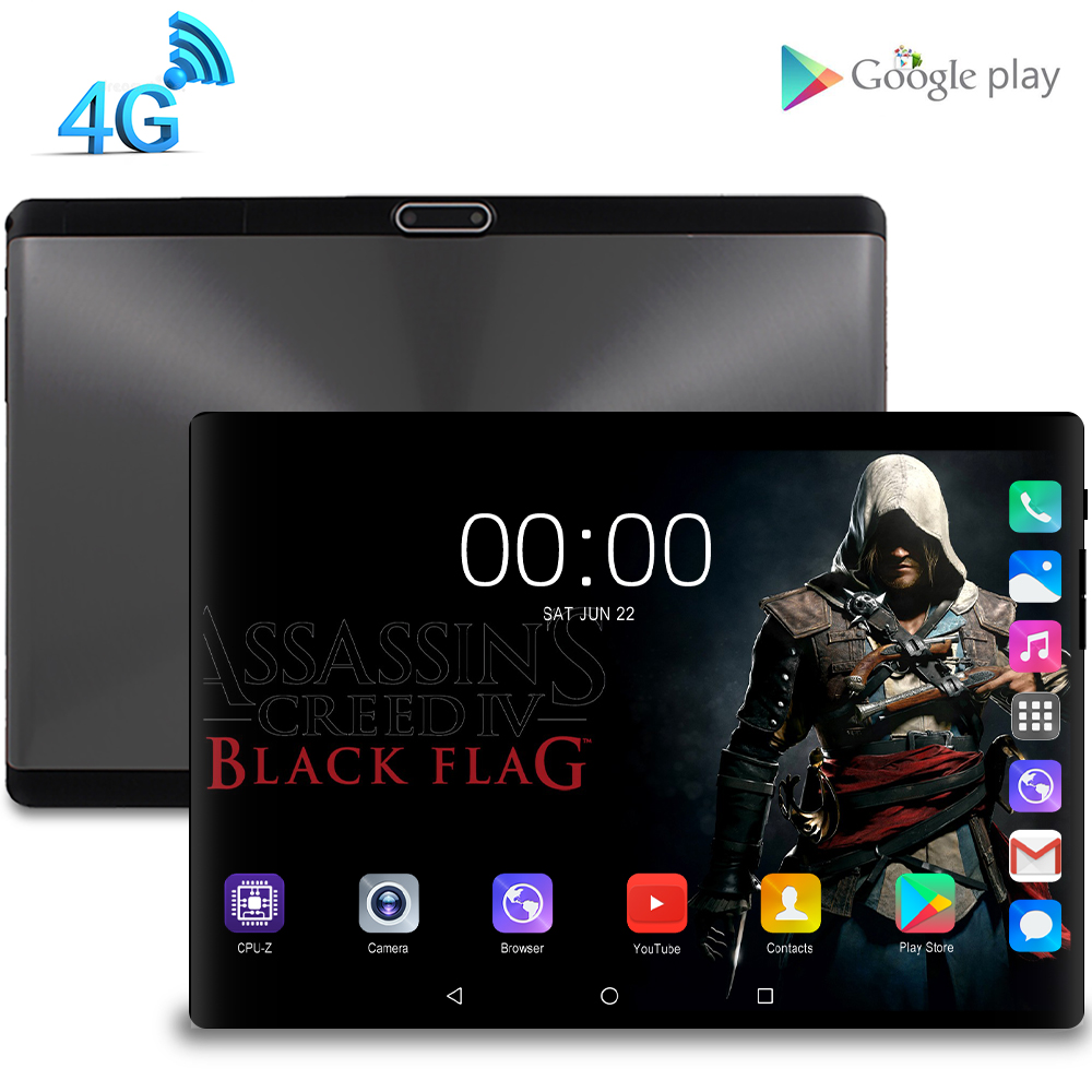 New Original 10.1 Inch Tablet Pc Octa Core 4G Phone Call Google Market GPS WiFi FM Bluetooth 10 Tablets 8G+128G Android 9.0