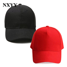 Black/Red Caps Solid Color Baseball Hats Snapback Caps Casquette Hats Fitted Casual Gorras Hip Hop Dad Hats For Men Women Unisex hip hop peaceminusone gd unisex solid curved hats baseball cap men women snapback caps sport casquette gorras