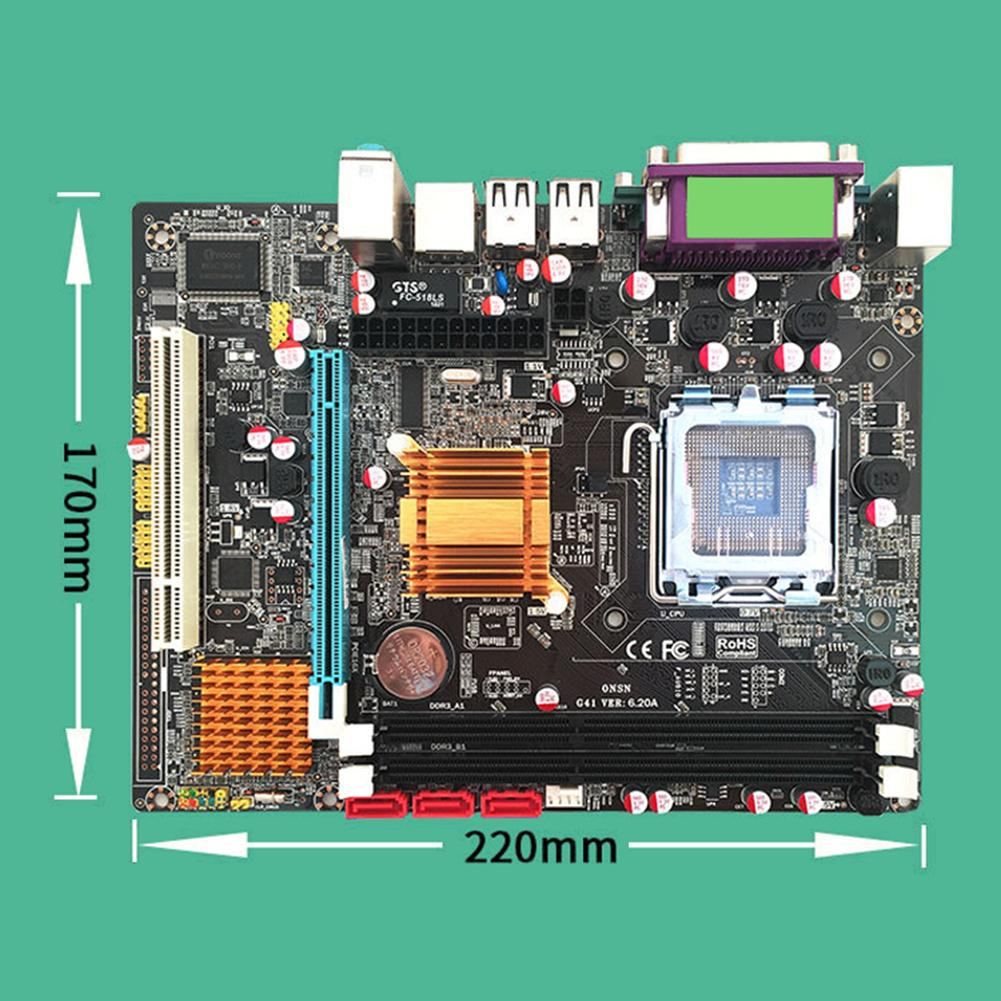 computer motherboard Desktop Computer Motherboard With All Solid Capacitor SATA2.0 RJ45 LPT VGA Audio 771 775 CPU Dual DDR3 1066/1333MHz Motherboard (3)