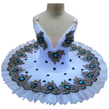 Profesjonalna baletowa spódniczka tutu Swan Lake biały kostium taneczny Pancake Girls klasyczna baletowa spódniczka tutu trykot sukienka baletowa dla dzieci