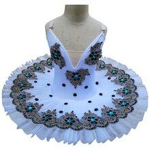 Tutu pour le Ballet professionnel, le lac Swan, Costume de danse blanche pour filles, crêpes, Ballet classique, justaucorps, robe de Ballet pour enfants