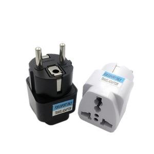 1pcs Universal EU Plug Adapter International AU UK US To EU Euro KR Travel Adapter Electrical Plug Converter Power Socket