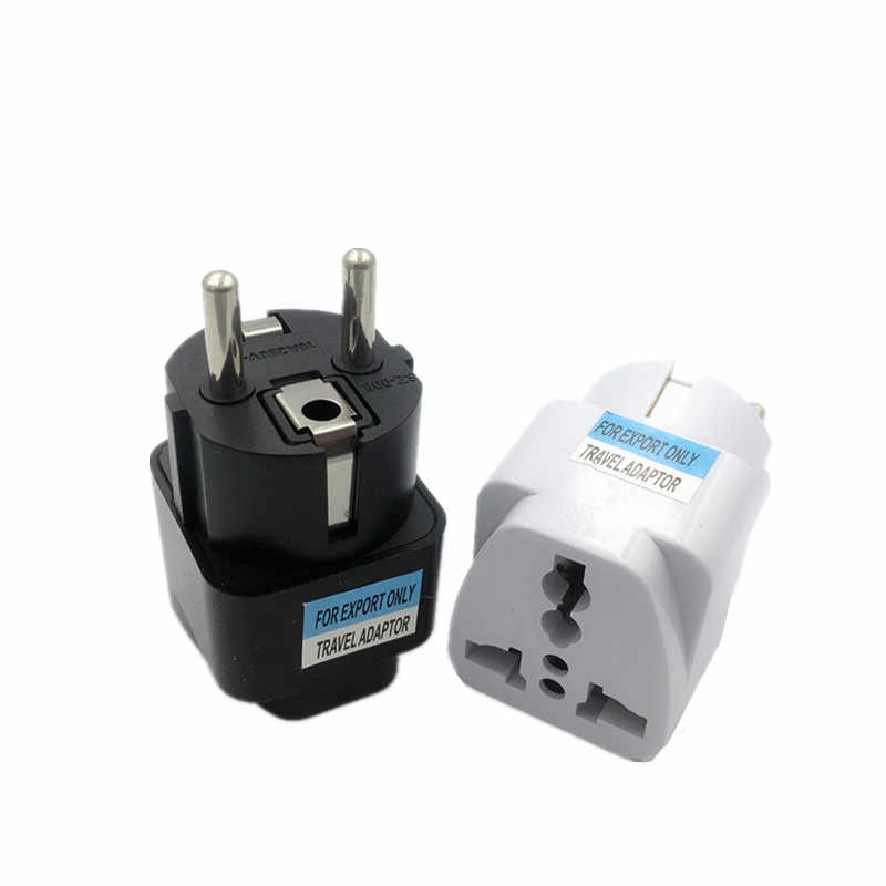 1pcs Universal EU ปลั๊กอะแดปเตอร์ UK UK EU ยูโร KR Travel ADAPTER ไฟฟ้า Plug Converter ซ็อกเก็ต