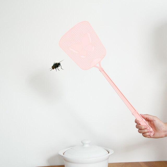 Kunststoff fliegen klatsche lange moskito-killer schläger fliegenklatsche tötung fliegen klopfte werkzeug für bugbuster insekt muster