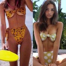 2020 New Biquini Summer Women's Print Split Swimsuit Swimwear Beachwear Bikini Traje De Baño Mujer Купальник Dropship #39
