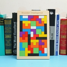 Children'S Early Educational Wooden Tetris Puzzle Toy For Kids Wood Puzzle Box Jigsaw Block Game Intelligence Education Gift educational wooden cask puzzle unlocking game toy for kids children wood