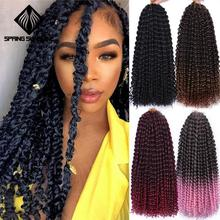 Hair-Extension Braid Crochet Passion Twist Curly Afro Kinky Pink Bohemian Synthetic Long