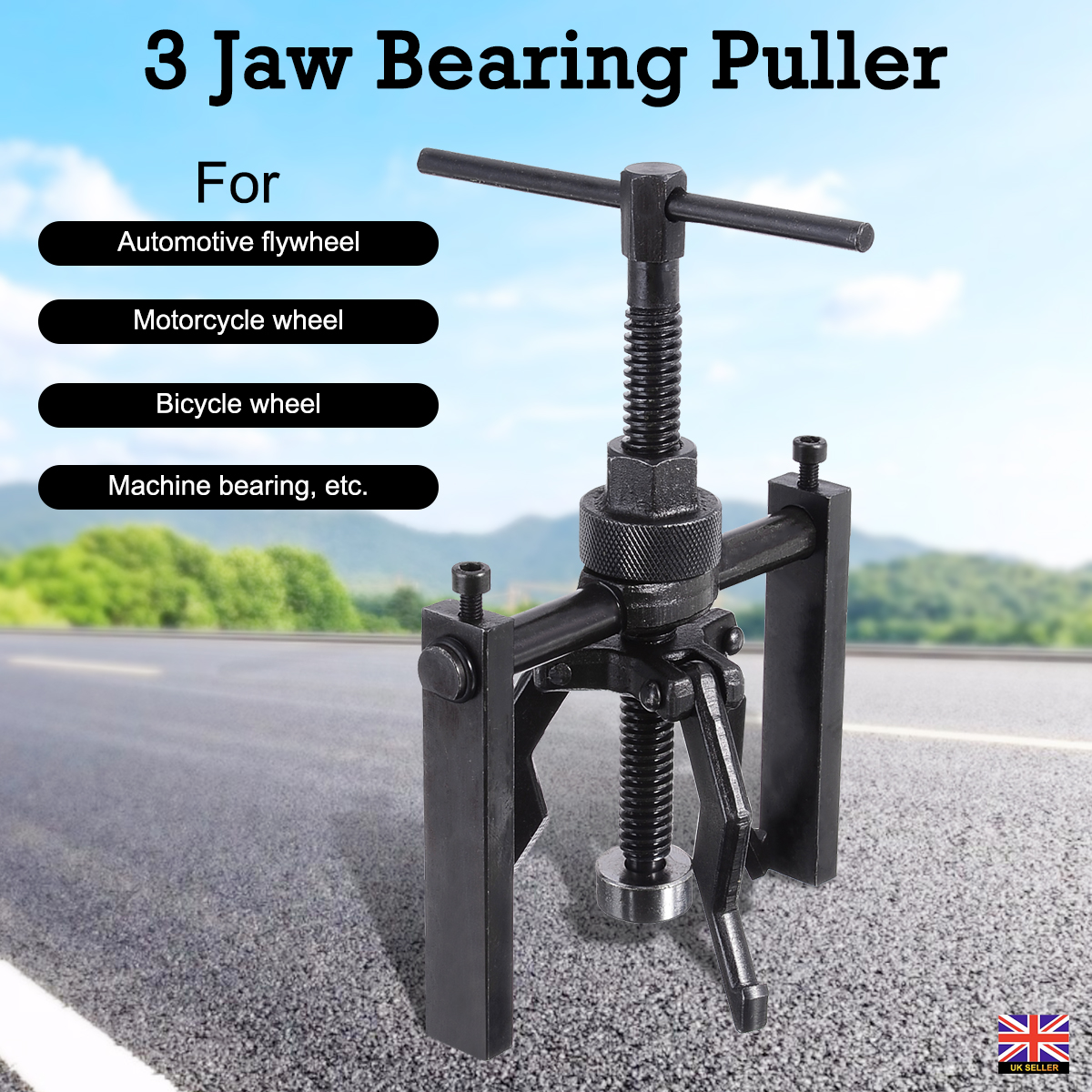3 Inch 2 Jaw Gear Puller Mechanic Bearing Steering Wheel Remover Extractor Tool