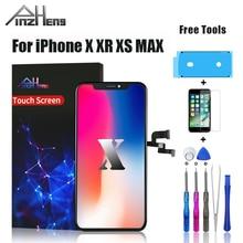 PINZHENG Écran LCD Pour iPhone X XR Xs Max LCD Affichage Oled TFT OEM Qualité Numériseur Remplacement Écran LCD