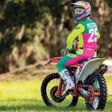 2019 motocross jersey spring set, pink bicycle outfit, jersey and top quality pants set MX цена