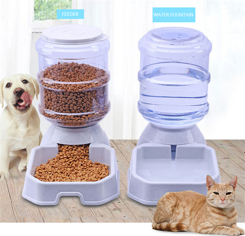 3.8L Plastic Pet Automatic Feeder Drinkers Dog Cat Drinking Animal Bowl Water Bowl Puppy Kitten Automatic Drinkers