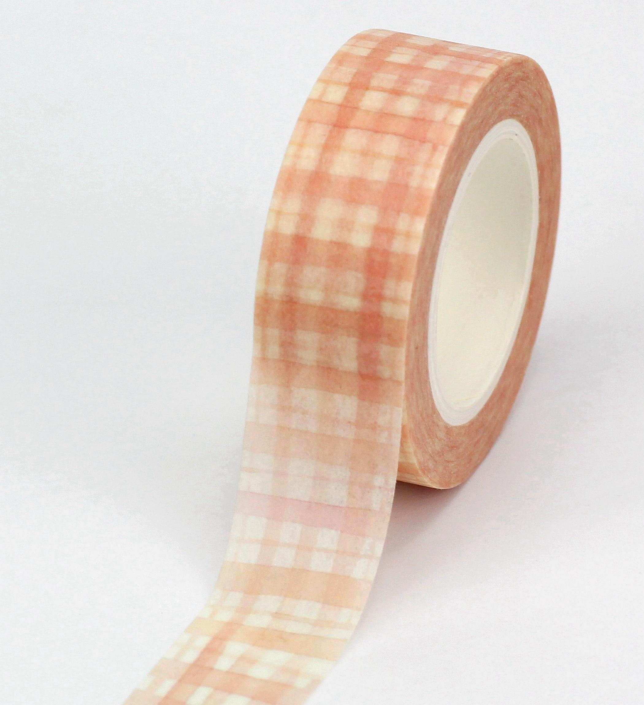10pcs/lot Decorative Cute Fall Plaid Washi Tapes Paper DIY Scrapbooking Planner Adhesive Masking Tapes Kawaii Stationery
