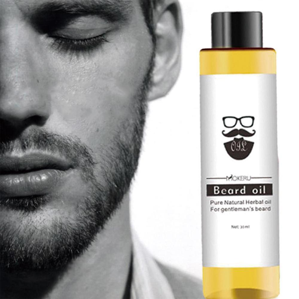30ml Mokeru 100% Organic Beard Oil Hair loss Products Spray Beard Growth Oil For Growth Men Beard Grow Pro