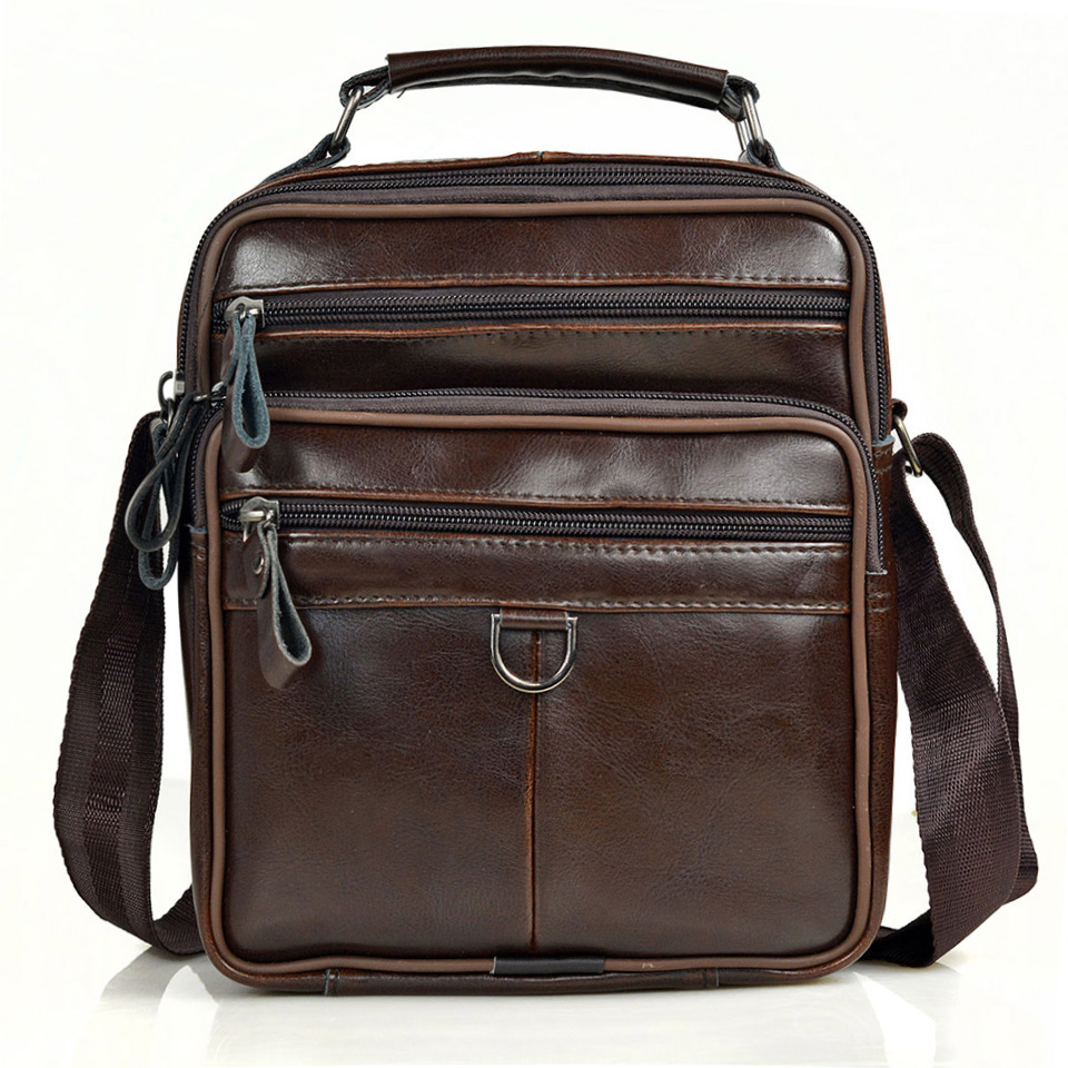 Men Genuine Leather Messenger Bags Male Cow Oil Wax Leather Handbags Men Fashion Crossbody Bag Young Boy Business Briefcases