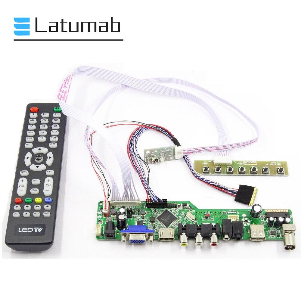 Kit for LTN156AT05   TV+HDMI+VGA+USB LCD LED screen Controller Driver Board