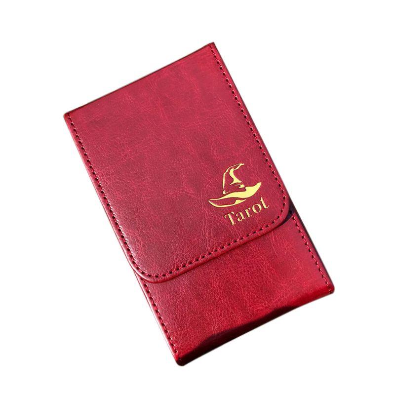 Портативный футляр для хранения карт Таро Двойная кожаная Коллекция чехол для настольных игр покера