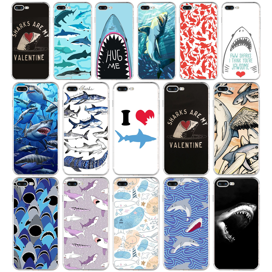 254FG ocean Whale Sharks fish Soft TPU Silicone Cover Case For Apple iPhone5 5s se 6 6s 7 8 plus x xr xs max