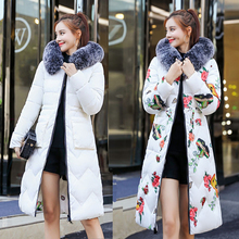 Two Sides Reversible Winter Coat Women Hood Elegant Jacket Long Parka Fur Collar Feminine Outwear