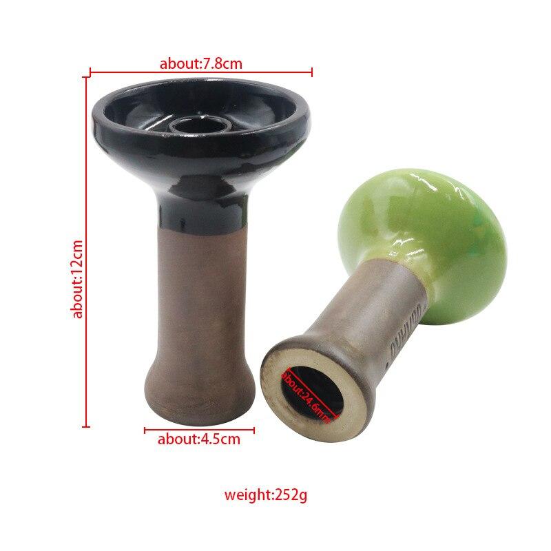 1pc Bong Bowl Two-color Mosaic Polka  Ceramic Hookah Shisha Bowl Single Hole Glaze Head Glass Water Pipe Charcoal Holder 3