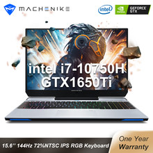 Machenike F117-V65 2020 oyun dizüstü i7 10750H GTX 1650Ti 4G 144hz IPS 8G 512SSD Win10 dizüstü bilgisayarlar arkadan aydınlatmalı RGB klavye