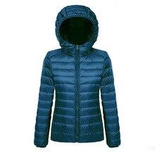Doudoune en duvet pour femme, manteau dhiver chaud ultraléger pour femme, grande taille 5XL 6XL et 7XL, Parka blanc, 2020