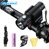 INBIKE Bike Light Bicycle Flashlight LED Bike Front Light Cycling 1000 Lumens Waterproof USB Rechargeable Headlight Biking Lamp