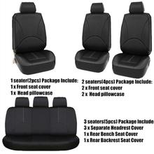 Universal Styling Full set pu leather faux Interior Accessories Automobile Protector Car Seat Cover