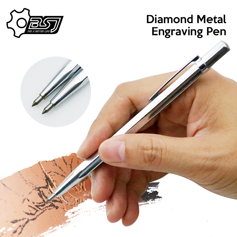 1PC Diamond Metal Engraving Pen Tungsten Carbide Tip Scriber Pen for Glass Ceramic Metal Wood Carving Hand Tool
