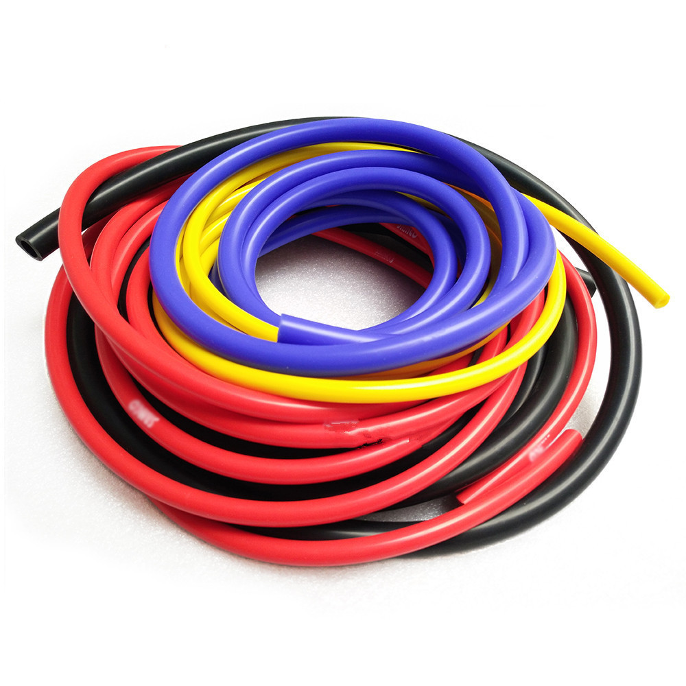 5M Bule Black Red Yellow 3mm/4mm/6mm/8mm Auto Car Vacuum Silicone Hose Racing Line Pipe Tube Car-styling