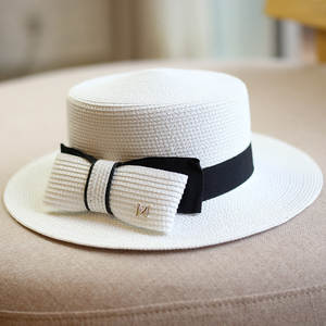 Panama Hat Fedoras Sun-Hat Boater Bowknot Classic Women Summer Lady Ribbon Travel Casual